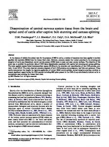 Dissemination of central nervous system tissue from ...