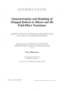 DISSERTATION Characterization and Modeling of