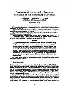 Dissipation of the excitation front as a mechanism ... - Computer Science