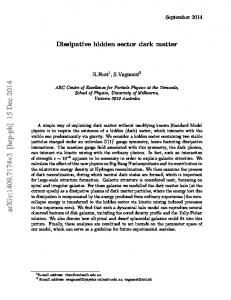 Dissipative hidden sector dark matter