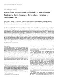 Dissociation between Neuronal Activity in ... - Semantic Scholar