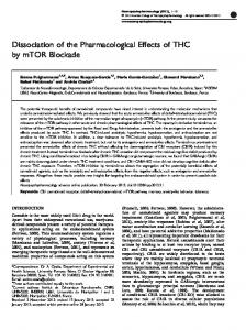 Dissociation of the Pharmacological Effects of THC by ...