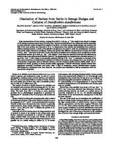 Dissolution of Barium from Barite in Sewage Sludges and ... - NCBI