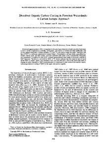 Dissolved Organic Carbon Cycling in Forested ... - Wiley Online Library