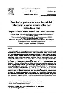 Dissolved organic matter properties and their