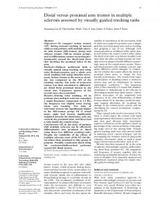Distal versus proximal arm tremor in multiple sclerosis assessed by ...