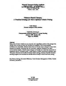 Distance-Based Charges; A Practical Strategy for ... - Semantic Scholar