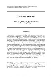 Distance Matters - Donald Bren School of Information and Computer