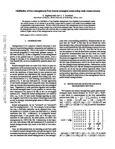 Distillation of free entanglement from bound entangled states using ...
