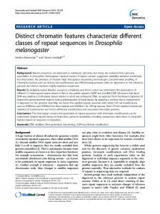 Distinct chromatin features characterize different ...
