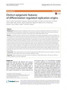 Distinct epigenetic features of differentiation-regulated replication ...
