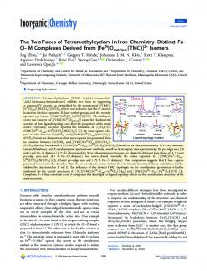 Distinct Fe–O–M Complexes Derived from [FeIV ... - ACS Publications