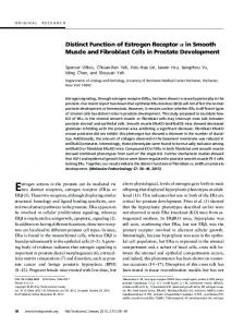 Distinct Function of Estrogen Receptor in Smooth Muscle and ...