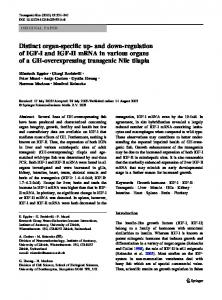 Distinct organ-specific up- and down-regulation of IGF-I and IGF-II ...