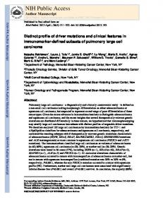 Distinct profile of driver mutations and clinical features in ...
