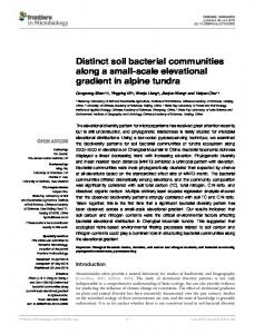 Distinct soil bacterial communities along a small-scale ... - Frontiers