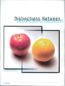 Distinctions Between