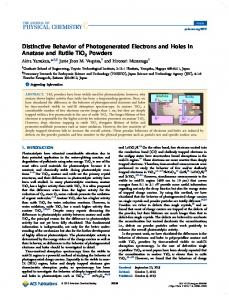 Distinctive Behavior of Photogenerated Electrons ... - ACS Publications