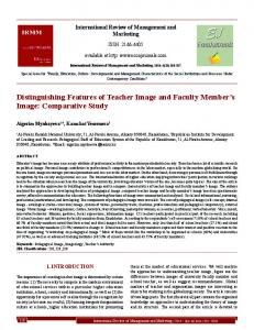 Distinguishing Features of Teacher Image and ... - EconJournals.com