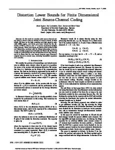 Distortion Lower Bounds for Finite Dimensional Joint ... - CiteSeerX