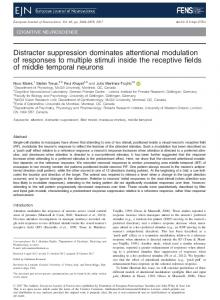Distracter suppression dominates attentional ... - Wiley Online Library