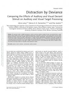 Distraction by Deviance - APA PsycNET - American Psychological ...
