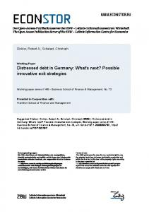Distressed Debt in Germany