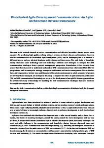 Distributed Agile Development Communication - Journal of Software
