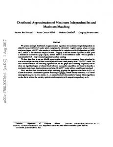 Distributed Approximation of Maximum Independent Set and ...