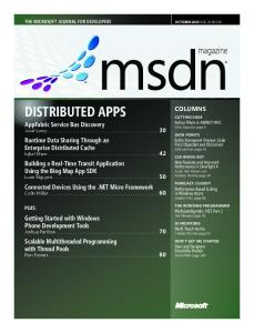 DISTRIBUTED APPS - Microsoft Download Center