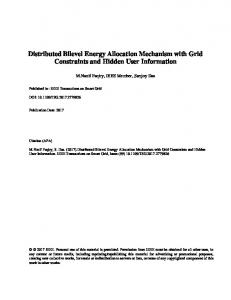 Distributed Bilevel Energy Allocation Mechanism with Grid