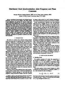 Distributed Clock Synchronization: Joint Frequency ... - Enrique Mallada