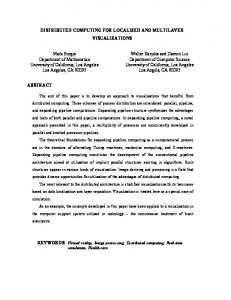 DISTRIBUTED COMPUTING FOR LOCALIZED ... - Semantic Scholar