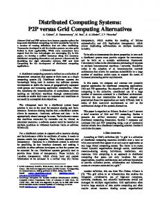 Distributed Computing Systems: P2P versus Grid ...