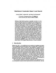 Distributed Constraint-Based Local Search - Semantic Scholar