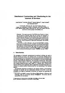 Distributed Contracting and Monitoring in the ... - Semantic Scholar
