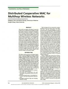 Distributed Cooperative MAC for Multihop Wireless Networks