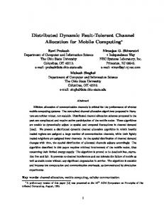 Distributed Dynamic Fault-Tolerant Channel Allocation for ... - CiteSeerX