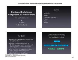 Distributed Evolutionary Computation for Fun and