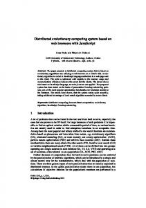 Distributed evolutionary computing system based ... - Semantic Scholar