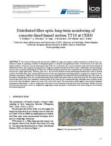 Distributed fibre optic long-term monitoring of concrete-lined ... - Opus