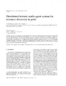 Distributed holonic multi-agent system for resource discovery in grids