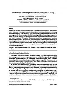 Distributed Job Scheduling based on Swarm ... - Semantic Scholar