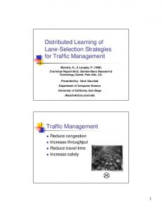 Distributed Learning of Lane-Selection Strategies for ... - UCSD CSE