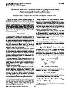 Distributed Nonlinear Optimal Control Using Sequential ... - IEEE Xplore