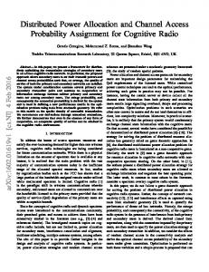 Distributed Power Allocation and Channel Access Probability ... - arXiv