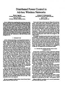 Distributed Power Control in Ad-hoc Wireless Networks - UCR CS