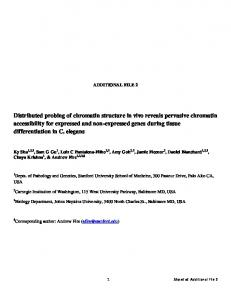 Distributed probing of chromatin structure in vivo ... - BioMedSearch