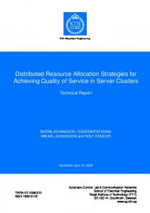 Distributed Resource Allocation Strategies for ... - Semantic Scholar