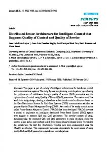 Distributed Sensor Architecture for Intelligent Control that ... - MDPI